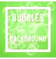 Spa aqua background with soap bubbles vector