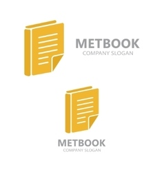 Template logo for the library or bookstore vector
