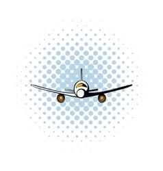 Airplane comics icon vector