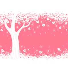 Blossom tree vector image vector image