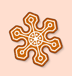 christmas cookie candy snowflake sweet vector image