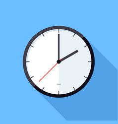 clock icon flat design icon vector image vector image