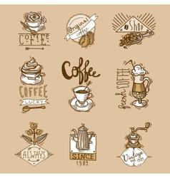 Coffee labels set vector