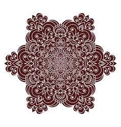 Hand drawing zentangle mandala element in marsala vector image vector image