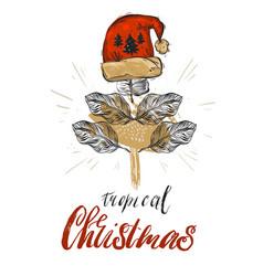 hand drawn abstract graphic christmas vector image