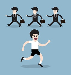 healthy running man vector image
