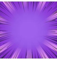 Manga comic book flash purple explosion radial vector image vector image