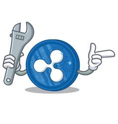 Mechanic ripple coin character cartoon vector