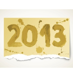 New year 2013 grunge torn paper vector image vector image