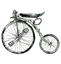 Painted bicycle3 vector