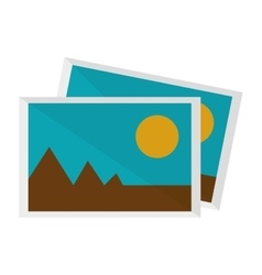 photograph icon vector image