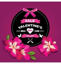 Poster valentines saletypography vector