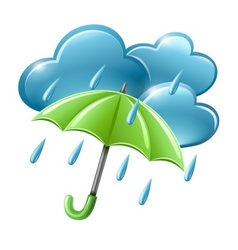 rainy weather icon with vector image