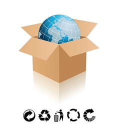 Recycling icons vector image vector image