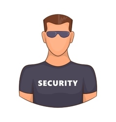 Security guard male icon cartoon style vector