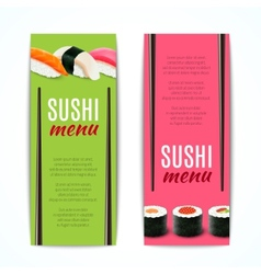 Sushi banners vertical vector