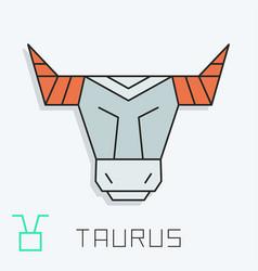 Taurus sign vector