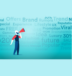Viral marketing with the mainstream channels of vector