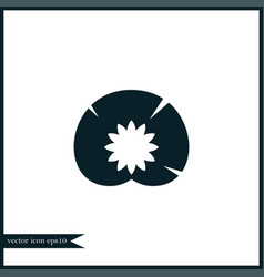 water lily icon simple vector image vector image