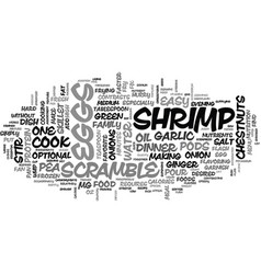 Whip up an easy dinner text word cloud concept vector