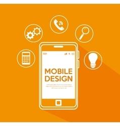mobile design modern items media vector image