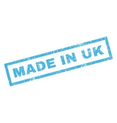 Made in uk rubber stamp vector