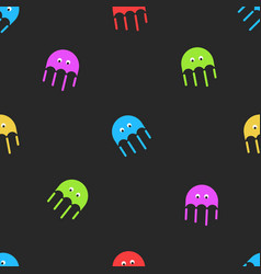 jellyfish seamless pattern cute random colorful vector image