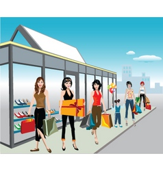 Shoe shoppers vector