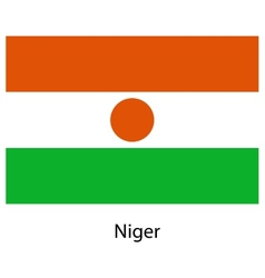 Flag of the country niger vector