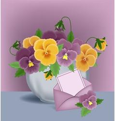 Floral pot vector