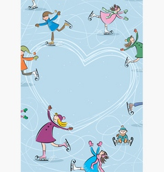 ice rink vector image