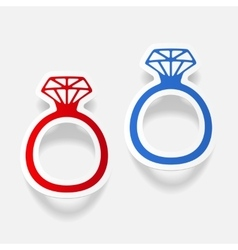 Realistic design element ring vector