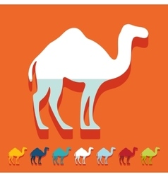 Flat design camel vector