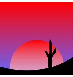 Desert sunset vector