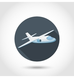 Aircraft or airplane icon vector