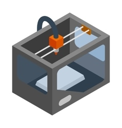 3d printer icon isometric 3d style vector