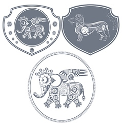 Icon mechanical elephant vector