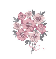 Abstract stylized floral abstract wedding bouquet vector