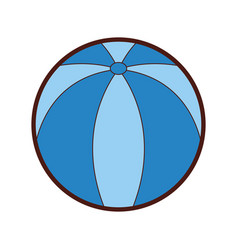 beach balloon isolated icon vector image