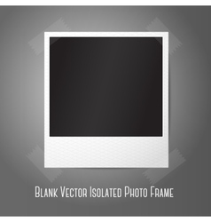 Blank instant photo frame sticked to the wall vector image vector image