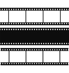Blank simple film strip set vector image