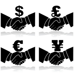 Business deal vector image vector image