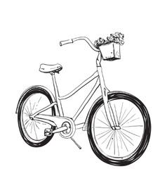 Cartoon of bicycle vector