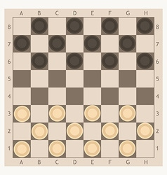 Checkers game board vector