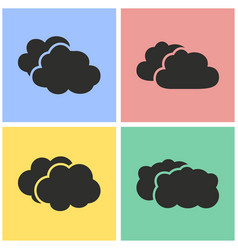 Clouds sky icon set vector