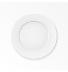 Empty plate isolated on white background vector