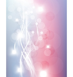 Fantasy background with curved white lines vector