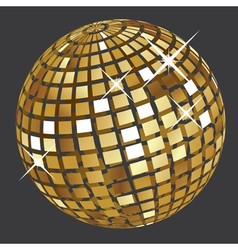 Golden disco ball2 vector