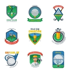 Golf labels set vector