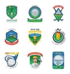 Golf labels set vector